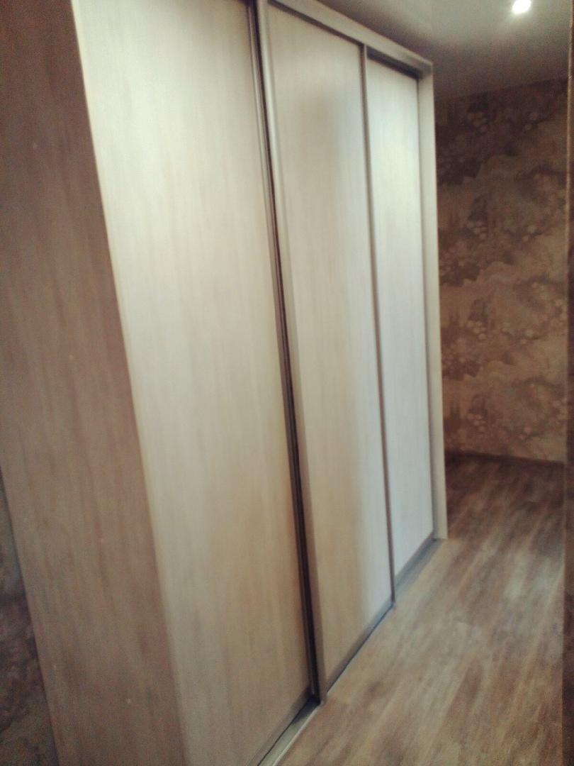 Шкаф-купе в прихожую на три двери с матовым профилем