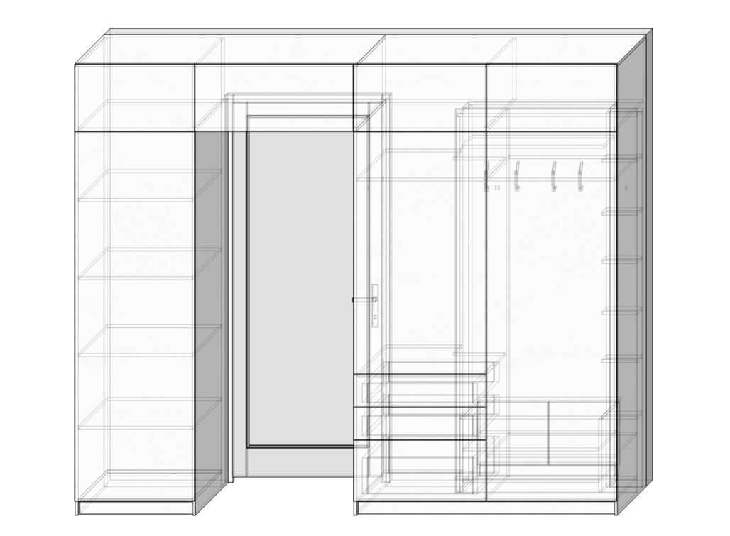 3D вариант платяного шкафа