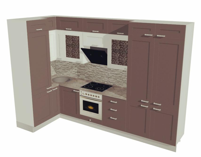 3D макет кухонного гарнитура
